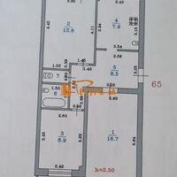3-к квартира, 58 м², 2/5 этаж